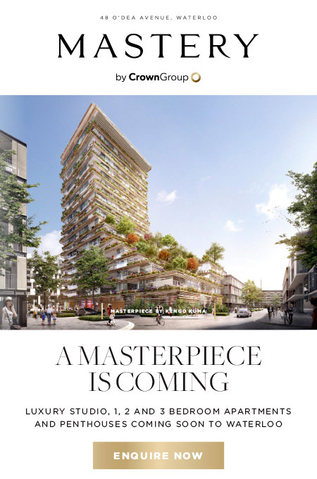 Mastery by Crown Group // 48 O'Dea Avenue, Waterloo // A Masterpiece is coming - Luxury studio, 1, 2 and 3 Bedroom apartments and penthouses coming soon to Waterloo. Enquire Now